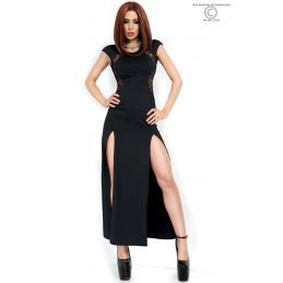 Robe longue noire Chilirose Robes Fashion CR-3858 Lerotika