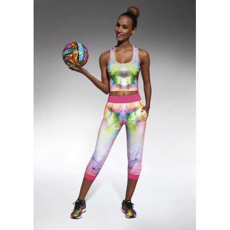 Exotic pantacourt sport multicolore Bas Bleu Leggings Sport BB-EXOTIC Lerotika