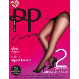 Collants grande taille - Lot de 2 Pretty Polly Collants Fantaisies & Résilles PP-PNEUN3 Lerotika