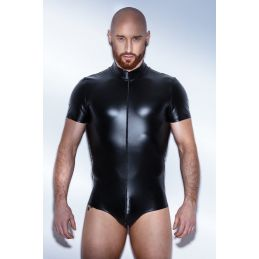 Body Powerwetlook H045 - XL Noir Handmade Exclusive Bodys BDSM Hommes 2200081000400 Lerotika