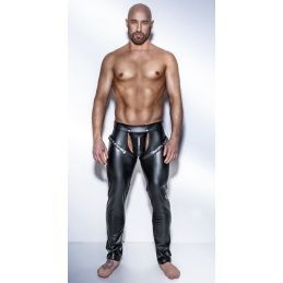 Chaps Noir Powerwetlook H042 - L Noir Handmade Exclusive Pantalons BDSM & Jupes BDSM 2200078000300 Lerotika