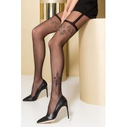 Collant Noir Effet Porte Jarretelles TI0108 T 3/4 Passion Collants Passion 3700384000034 Lerotika