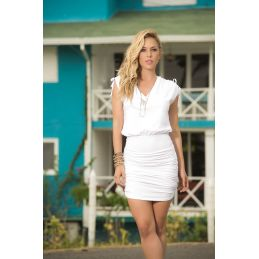 Dress white 4917 Mapalé Robes de Plage MAP-03029 Lerotika