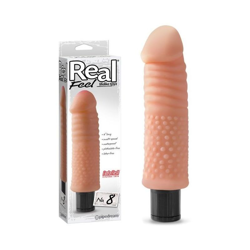 Vibromasseur réaliste Real Feel 8 - 22,5 cm Pipedream USA