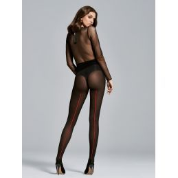 Collant Single noir 40den Fiore Collants Fantaisies & Résilles FI-3507 Lerotika