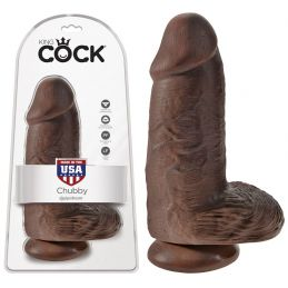 Gode Extra Large Chubby Chocolat King Cock 17.5 cm King Cock Godes Ventouse & Réalistes 1845220000000 Lerotika