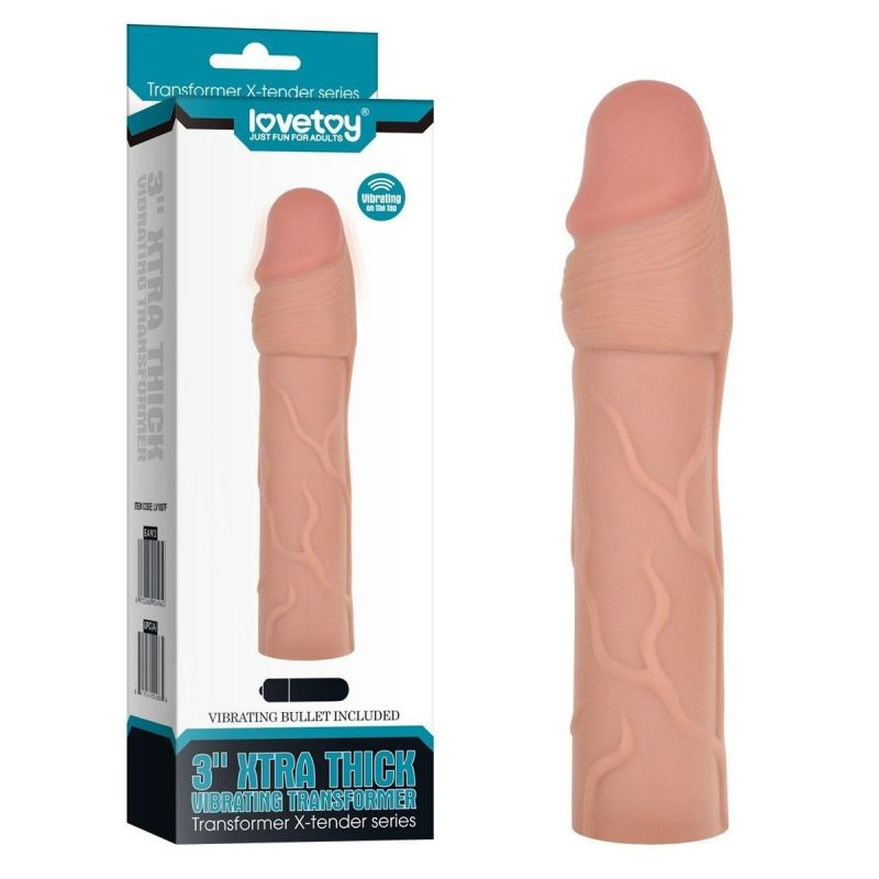 Gaine Vibrante Xtra Thick - 17 cm Lovetoy Gaines & Prolongateurs 1702630000000 Lerotika