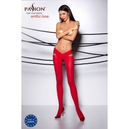 Collant Ouvert Rouge TI005 - T 3/4 Collants Ouverts 3700459000034 Lerotika