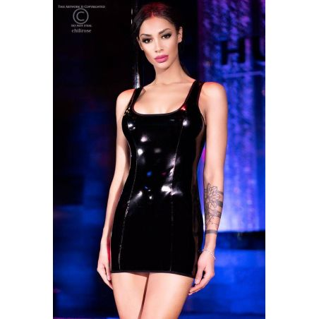 Robe moulante effet vinyl Chilirose Robes Sexy CR-4276 Lerotika