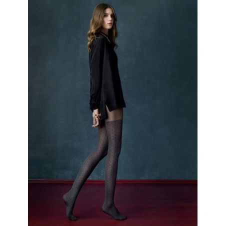 Grey Cat Collants - Noir - 40DEN Fiore Collants Fantaisies & Résilles FI-4021 Lerotika