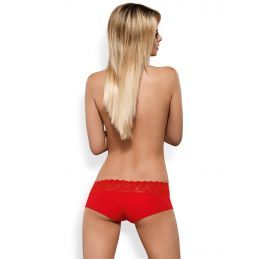 Pack double Lacea Shortys noir rouge Obsessive