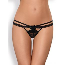 Wonderia Thong Black Obsessive Strings OB-02509 Lerotika