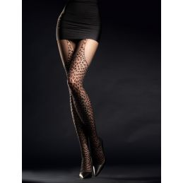 Hunt me Collants 30 DEN - Noir Fiore Collants Fantaisies & Résilles FI-5009 Lerotika