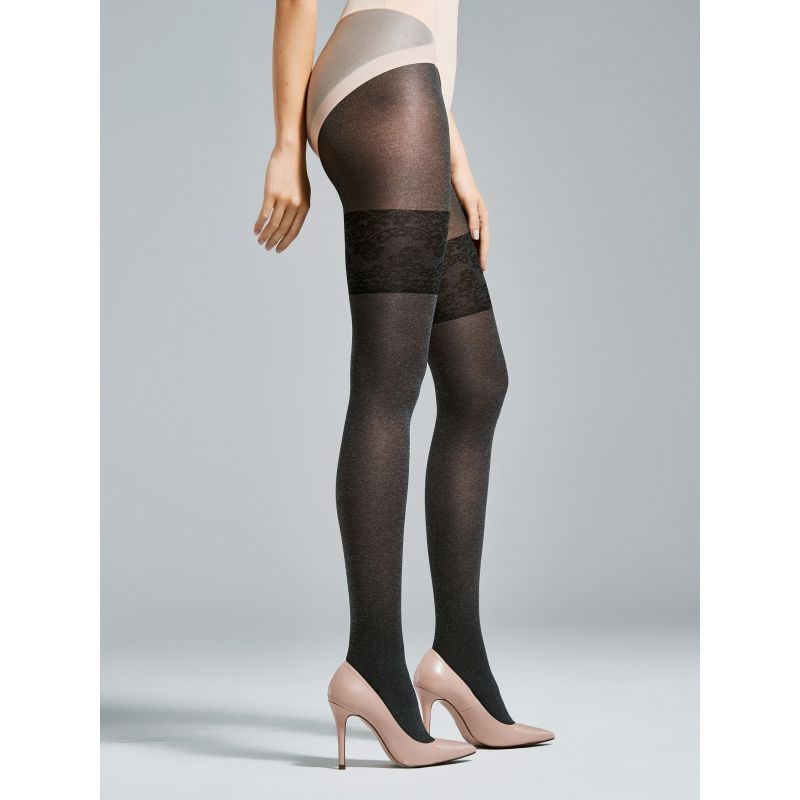 Collant Morning noir 40den Fiore Collants Fantaisies & Résilles FI-3505 Lerotika