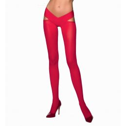 Collant Ouvert Rouge TI005 - T 3/4