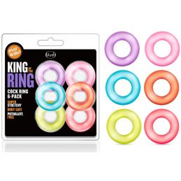 Pack 6 Anneaux Pour Pénis King Of The Ring
